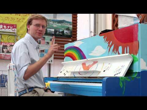 さんさん商店街ピアノコンサート演奏風景(2015年6月21日開催)