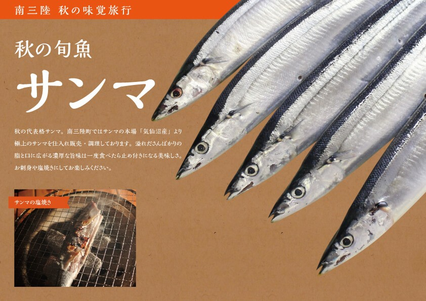 南三陸 秋の旬魚 サンマ