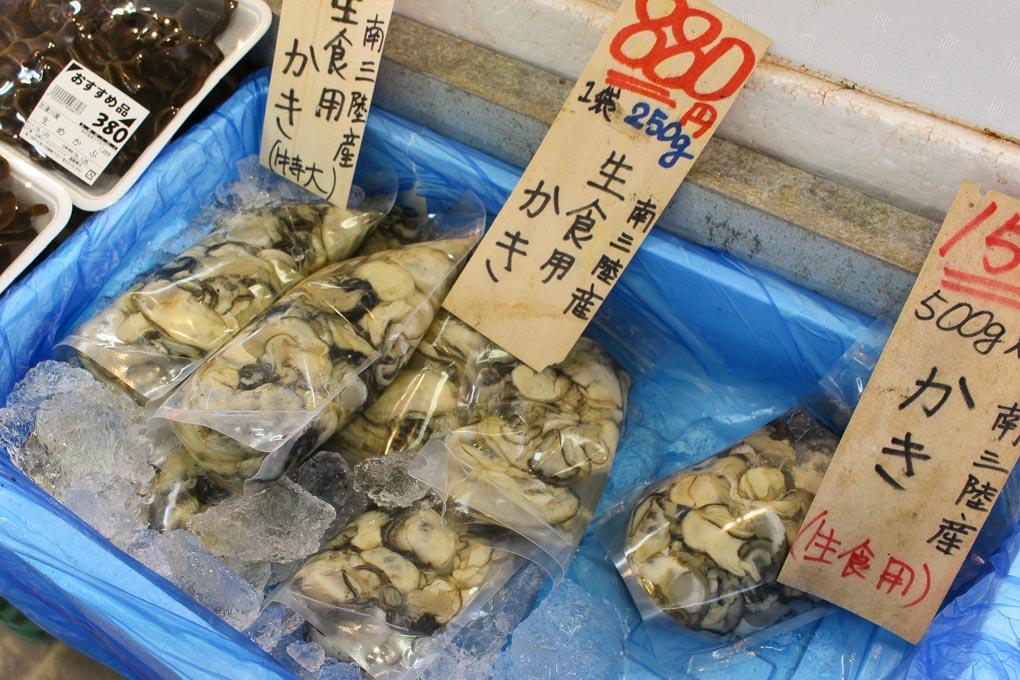 南三陸の牡蠣