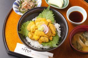 """明日から""""創菜旬魚はしもと""""でも、うに丼を提供開始!【※数量限定】"""