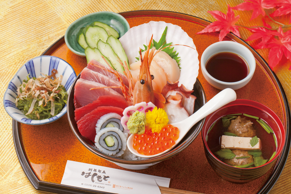 今週のイチ丼!ミシュランガイド宮城掲載店「創菜旬魚 はしもと」のキラキラ秋旨丼!