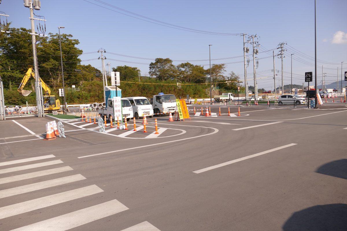 9月25日(月)~10月3日(火)まで『さんさん商店街』駐車場入口・出口周辺工事のお知らせ!