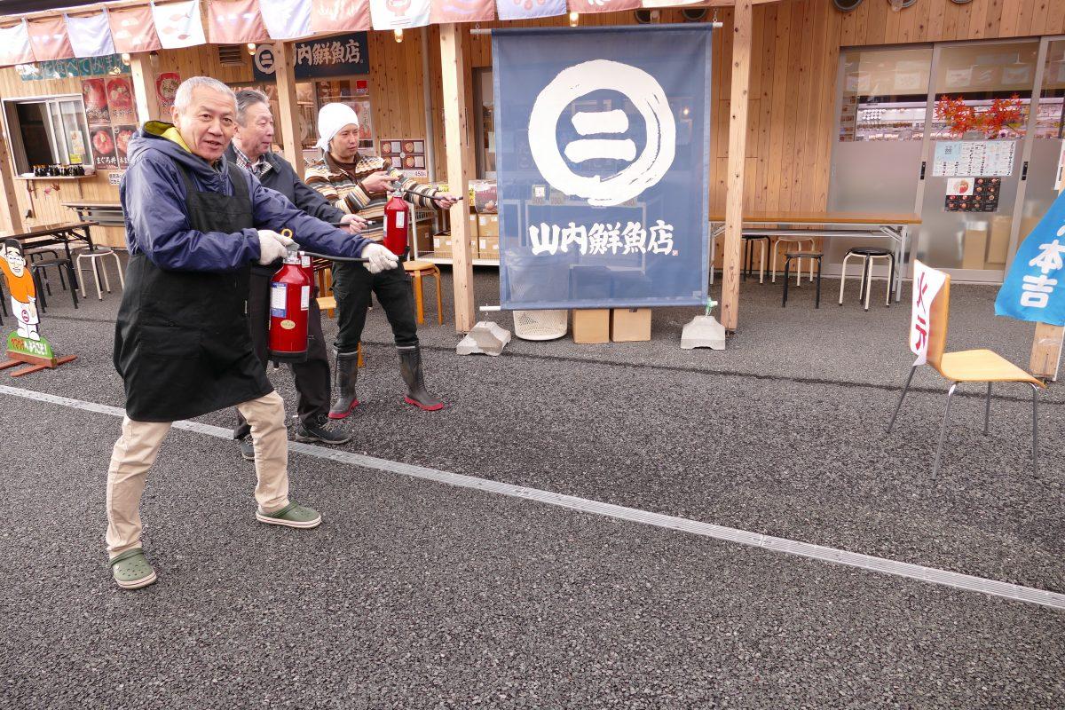 さんさん商店街で防災訓練を行いました!