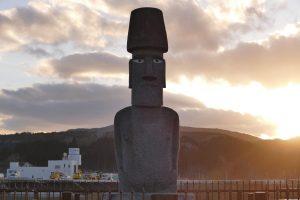 門外不出のイースター島の『モアイ像』!本日5月25日(土)で南三陸町に寄贈されてから6年が経ちました!