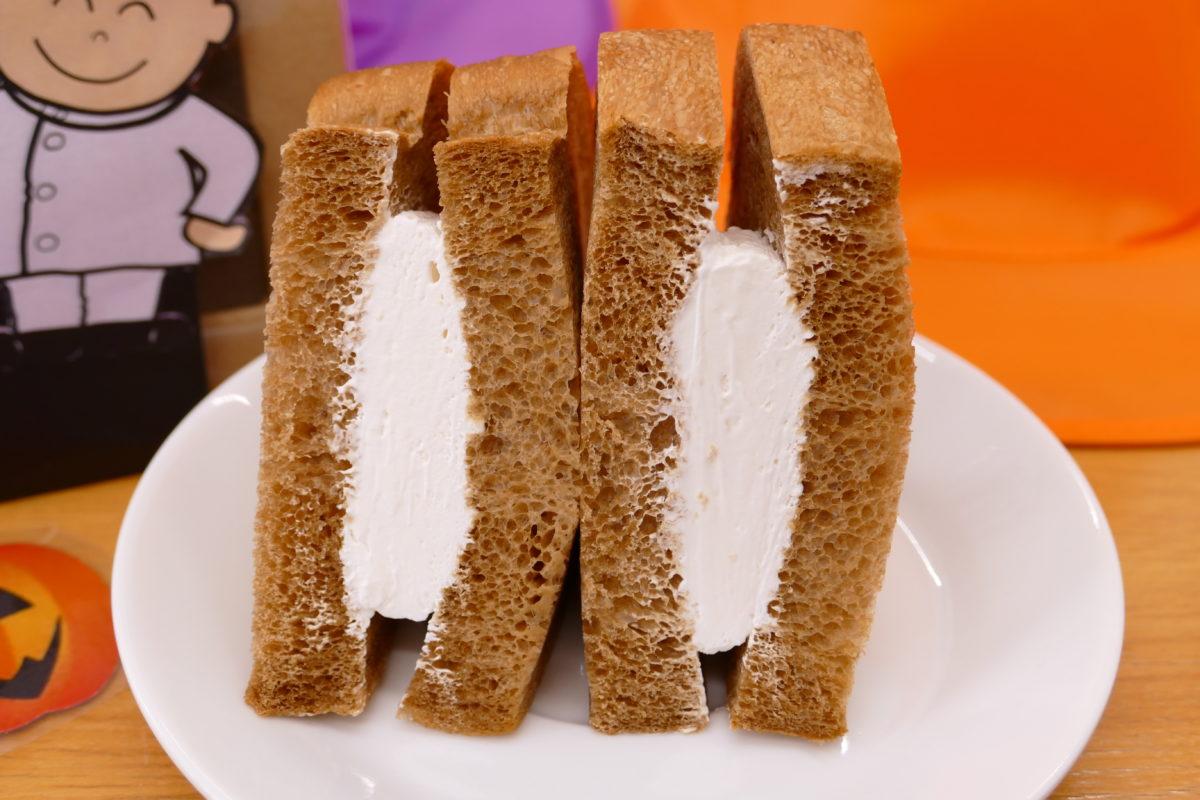 口コミで大人気!売り切れ必須!雄新堂の『黒糖パンのクリームサンド』!
