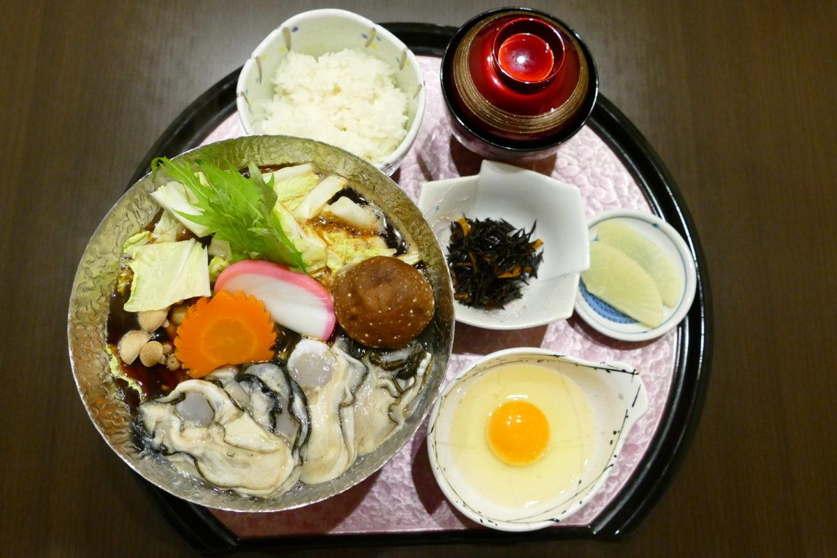 """食楽 しお彩の""""牡蠣フェスティバル""""熱々メニュー『カキすき鍋』!"""