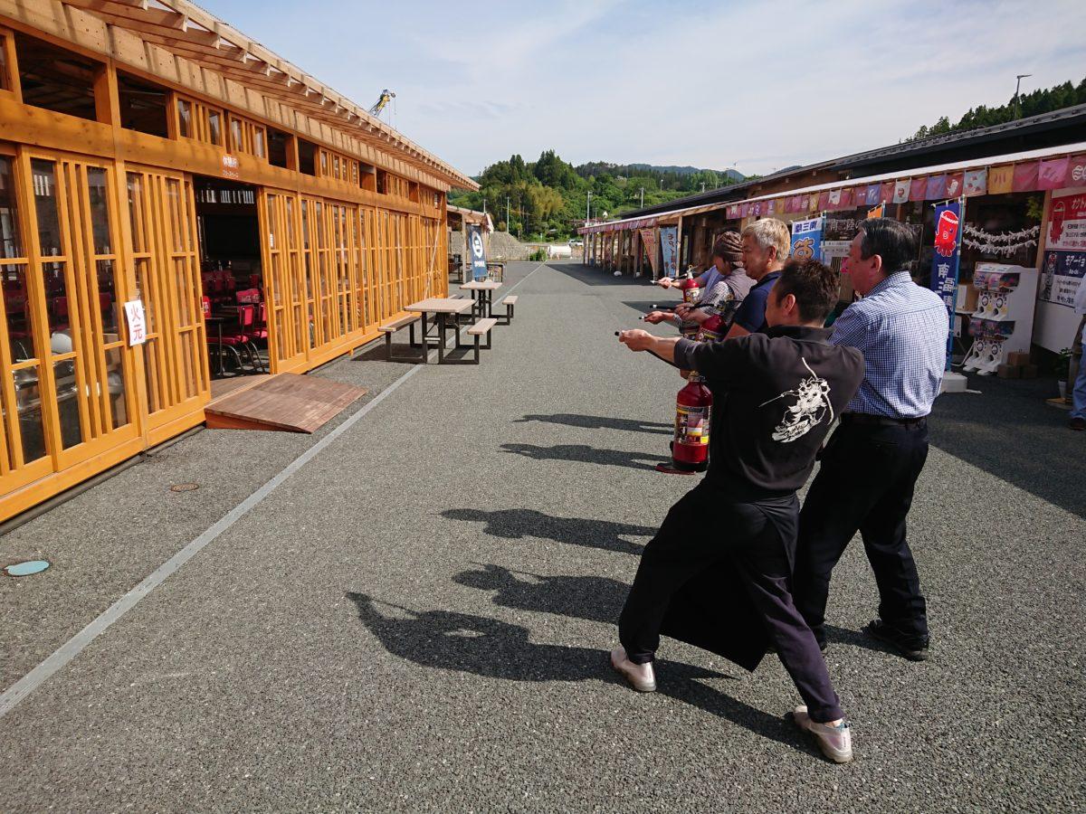 昨日5月31日(金)さんさん商店街で防災訓練を行いました!