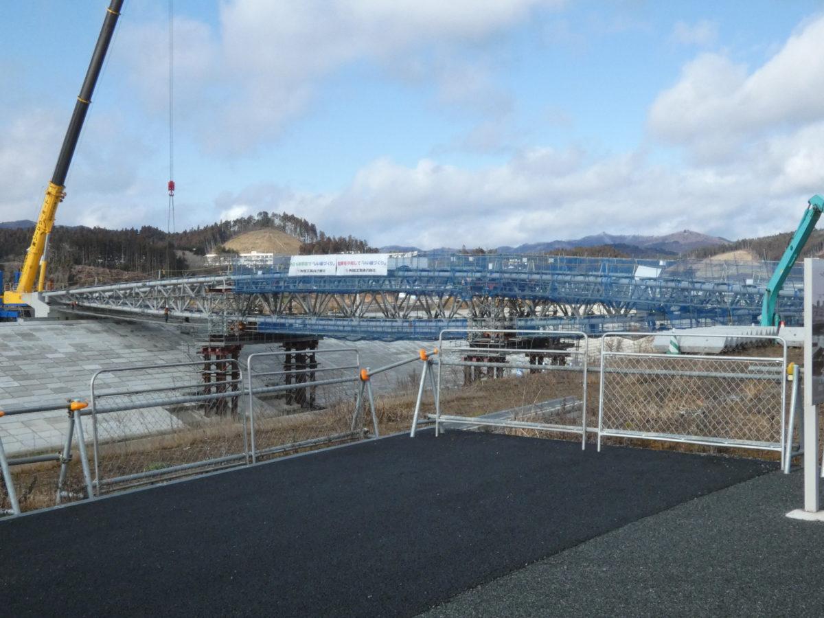 中橋の工事状況!震災復興祈念公園側にも橋がかかりました!