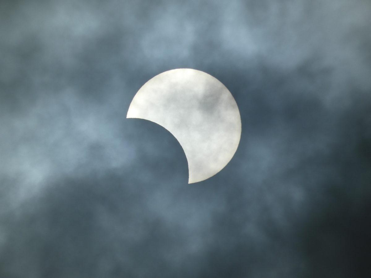 さんさん商店街から【部分日食】が観測できました!観測できなかった方にもおすそ分け!