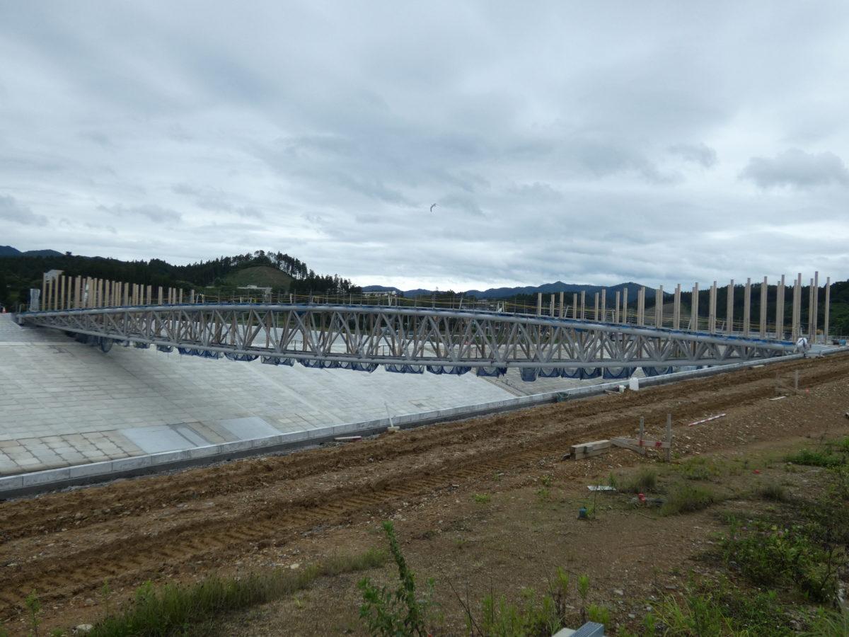【定点観測】中橋の工事状況!橋を覆っていたカバーが外れ全容が見えてきました!