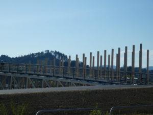 【定点観測】中橋の工事状況!手すりが設置されました!