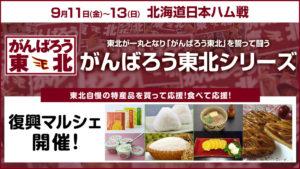 9/11(金)~13(日)「がんばろう東北シリーズ」にて復興マルシェを開催!南三陸町も出店します!