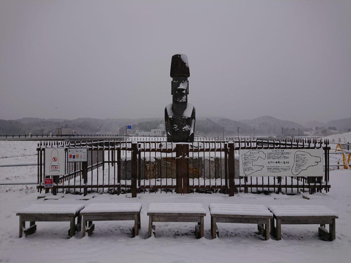さんさん商店街も雪景色!?久しぶりに雪が積もりました!