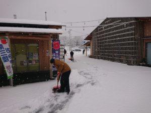 今シーズン1番の積雪量!さんさん商店街も雪景色となりました!