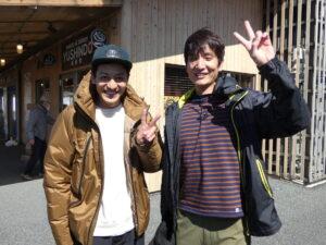 『とろサーモン村田とソラシド本坊のアウトドア日和』の撮影が行われました!