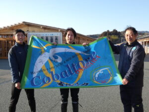 【コバルトーレ女川】様よりトップチーム全選手のサイン入りフラッグを頂戴いたしました!
